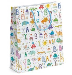 A Turnowsky Baby Print Medium Gift Bag