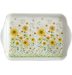 A beautifully illustrated melamine serving tray, perfect for bringing a touch of summer to any dinner table or kitchen