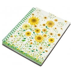 A beautifully illustrated spiral notebook in an A6 form, perfect for note taking and memo reminders