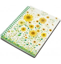 A beautifully illustrated spiral notebook in an A5 form, perfect for note taking and memo reminders