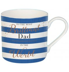 Be sure to make any dad smile on fathers day or their birthdays with this wonderful themed china mug