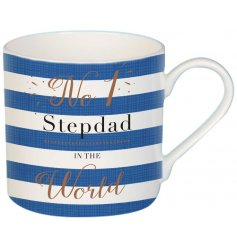 Be sure to make any step dad smile on fathers day or their birthdays with this wonderful themed china mug