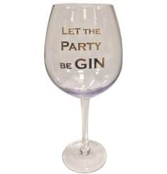 A Lilac Let The Party Be Gin quote Gin Glass
