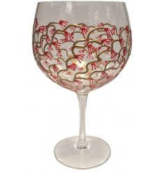 A Sunny by Sue Gin Glass featuring a Japanese Garden Red & Gold design