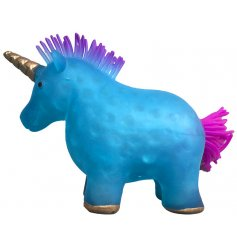 If you're feeling stressed and angered at work then this big blue squeezing unicorn will be sure to calm your temper
