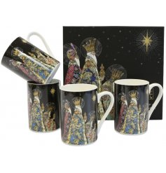 Part of the wonderful range of Bug Art is this Festive themed set of patterned mugs with a matching gift box