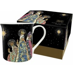 Part of the wonderful range of Bug Art is this Festive themed patterned mug with a matching gift box