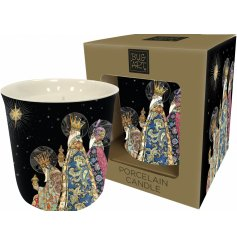 Bring a bright and comforting glow to any home space or interior with this beautifully decorated candle pot