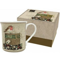 Bring a sweetly vintage edge to any hot chocolate evening or cozy night in with this beautifully decorated china mug