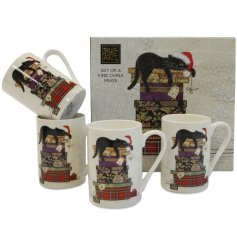 Bring a sweetly vintage edge to any gift giving event this Christmas season with this beautifully finished set of mugs