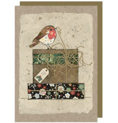 Bring a beautifully whimsical touch to your festive greetings with this wonderfully detailed card and envelope