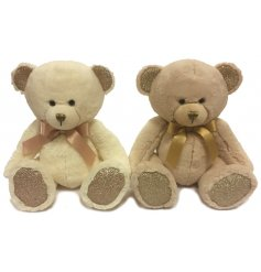 A sweet little assortment of soft and cuddly teddybears, complete with pretty bow ribbons and sparkling touches