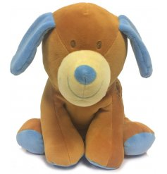 Have your little one snuggle up all cozy with this soft to the touch plush doggy