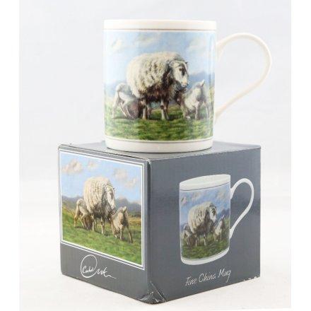 Lambs and Ewe Printed China Mug