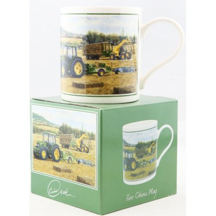 Hay Bale Harvest Printed China Mug