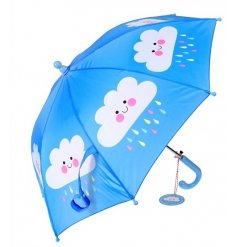 Let your little ones enjoy the rain with this bright blue 'Happy Cloud' themed umbrella
