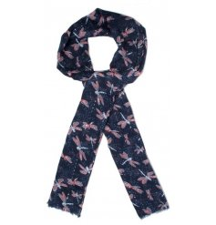 A beautiful assortment of dragonfly printed fabric scarves, perfect accessories to any outfit this spring time