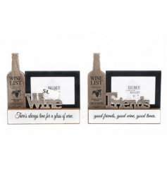 Bring a rustic edge to any home space with this assortment of wooden photoframes