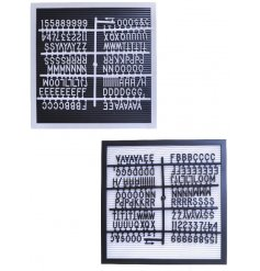 Get creative with your home decor with this black and white assortment of Peg Display Boards