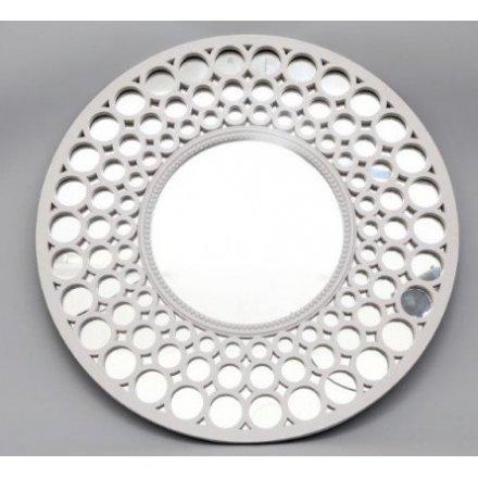 Round White Mirror