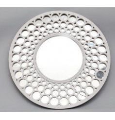 Bring home a contemporary edge with this beautifully simple round wall mirror