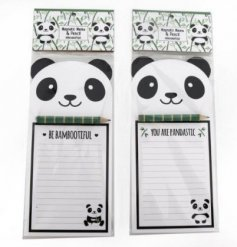 """You are Pandatastic"" and ""Be Bambootiful"" themed magnetic memoboards with a sweet smiling panda decal"