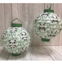 An adorable assortment of Panda printed paper lanterns.