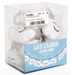 A sweet and mystical inspired set of hanging LED string lights, perfectly finished with happy cloud decal.