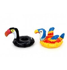 Place your drinks inside these funky bird themed inflatable cup holders for a fun touch to your summer BBQs