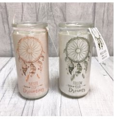 Add a sweet dream theme to your home spaces with these beautifully finished glass candle tubes