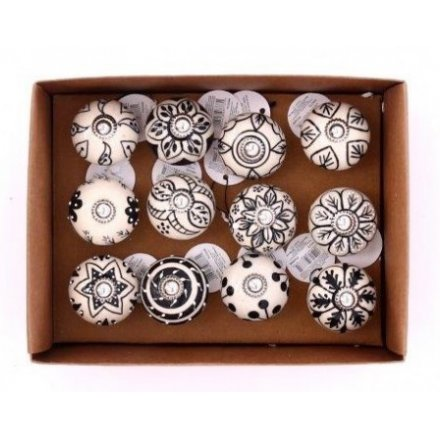 Rustic Black and White Doorknobs