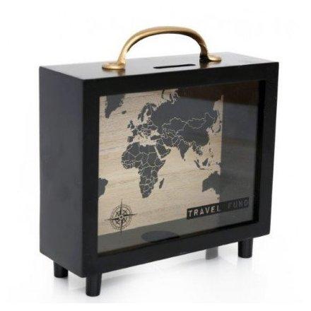 World Map Travel Fund Money Box
