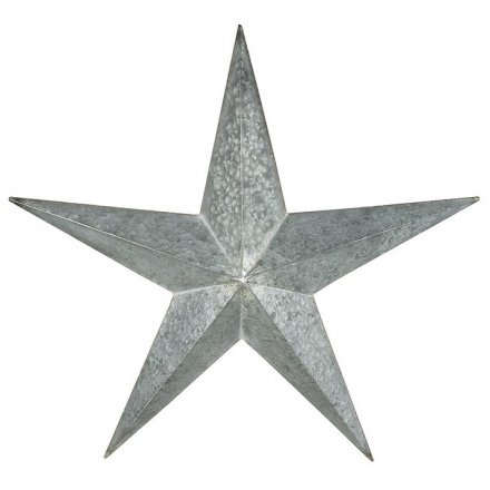 Large Distressed Hanging Metal Star 73cm