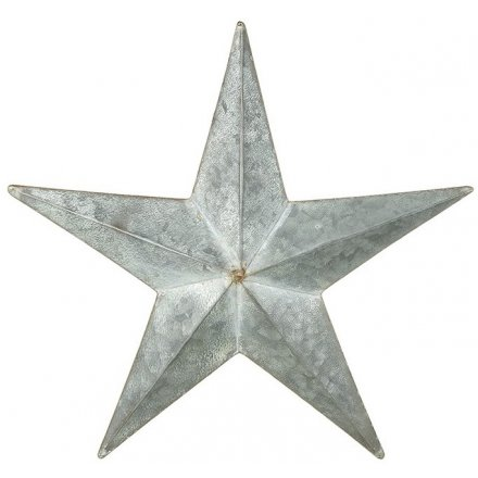 Distressed Hanging Metal Star 34cm