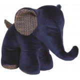 A small Plush Blue Elephant Doorstop