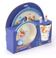 Bring a magical mermaid touch to any little ones dinner time with this Eco-Friendly dinner set
