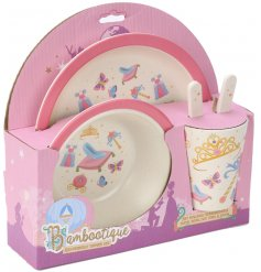 Bring a magical princess touch to any little ones dinner time with this Eco-Friendly dinner set