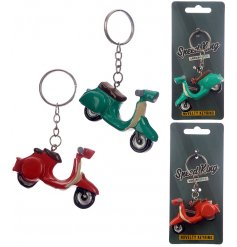 Bring a funky edge to your backpack or key sets with this fun assortment of novelty scooter keyrings
