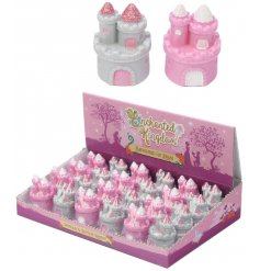 An assortment of pink and white Princess Castle Lip Balms