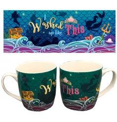 A Mermaid Slogan I Washed Up Like This China Mug