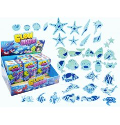 Bring an enchanting underwater glow to your little ones bedrooms or playrooms with this fun pack of glow in the dark sti
