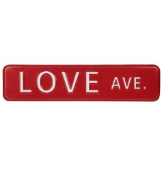 Show everybody where your 'Love Ave.' is with this charming Post Box Red toned iron sign