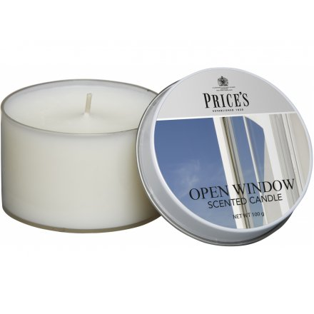 Prices Scented Candle Tin - Open Window