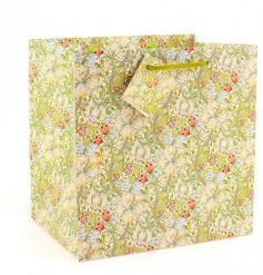 A medium sized gift bag with William Morris Golden Lily print