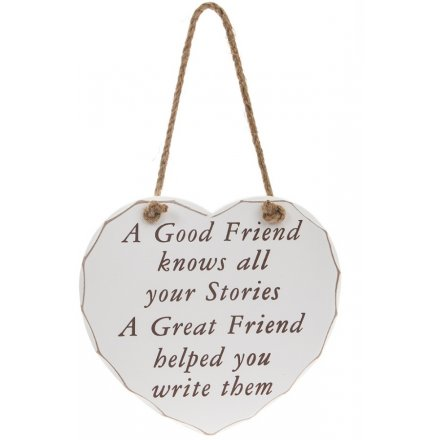 Good/Great Friend Heart Plaque