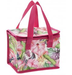 A Tropical Paradise print Zip Top Lunch Bag
