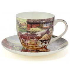 A Country Life Teacup & Saucer