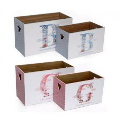 An assortment of 2 hot air balloon baby crates in a set of 2
