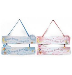 An assortment of 2 Tier Sweet Dreams Baby Plaques