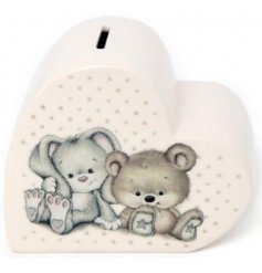 this ceramic money box will be a great way to start a savings fund for when they grow up